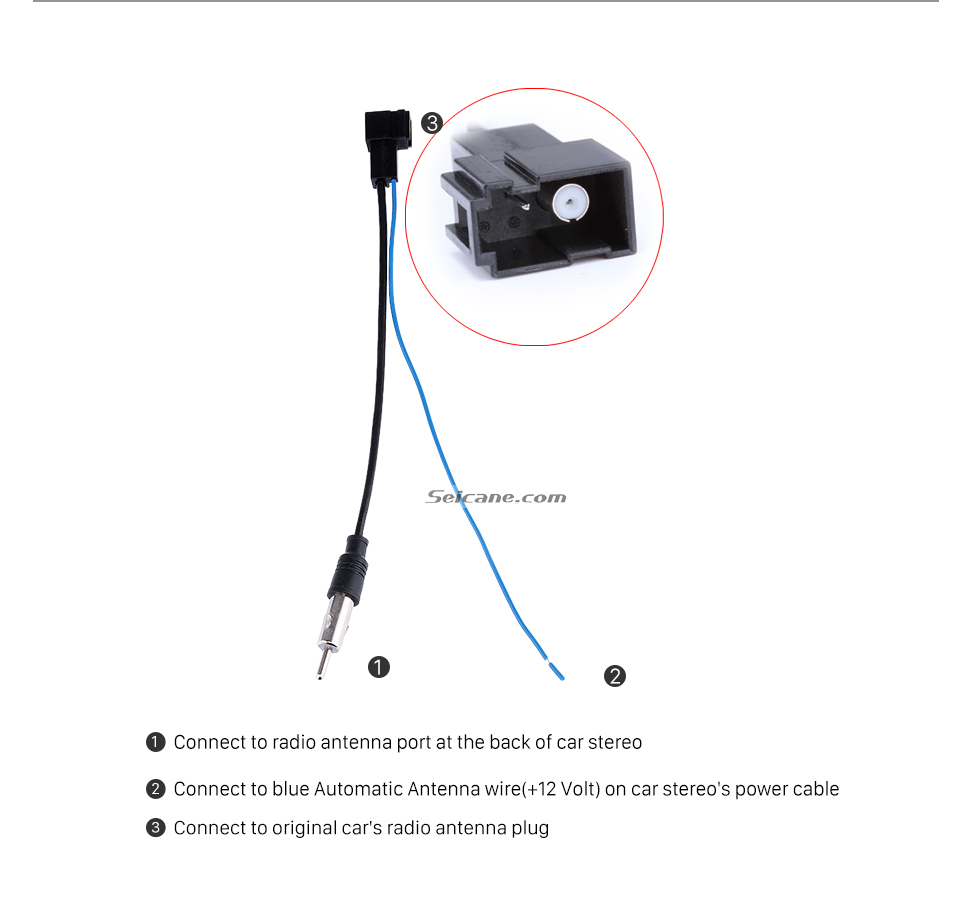 seicane car stereo radio antenna cable plug adapter for honda city rh aliexpress com Plug Wiring Diagram A 3 Prong Plug Wiring