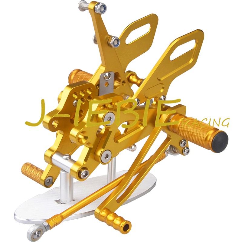 CNC Racing Rearset Adjustable Rear Sets Foot pegs Fit For Kawasaki NINJA ZX10R 2004 2005 GOLD morais r the hundred foot journey