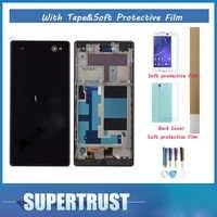 Bianco e Nero a Colori 5.5 Per Sony Xperia C3 D2533 D2502 Con telaio Display LCD Con Sensore di Tocco Digitizer Assembly