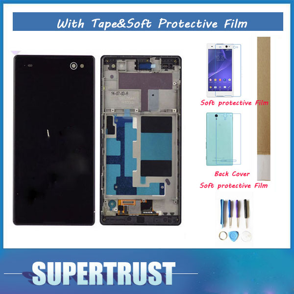 White Black Color 5.5For Sony Xperia C3 D2533 D2502 With frame LCD Display With Touch Sensor Digitizer Assembly