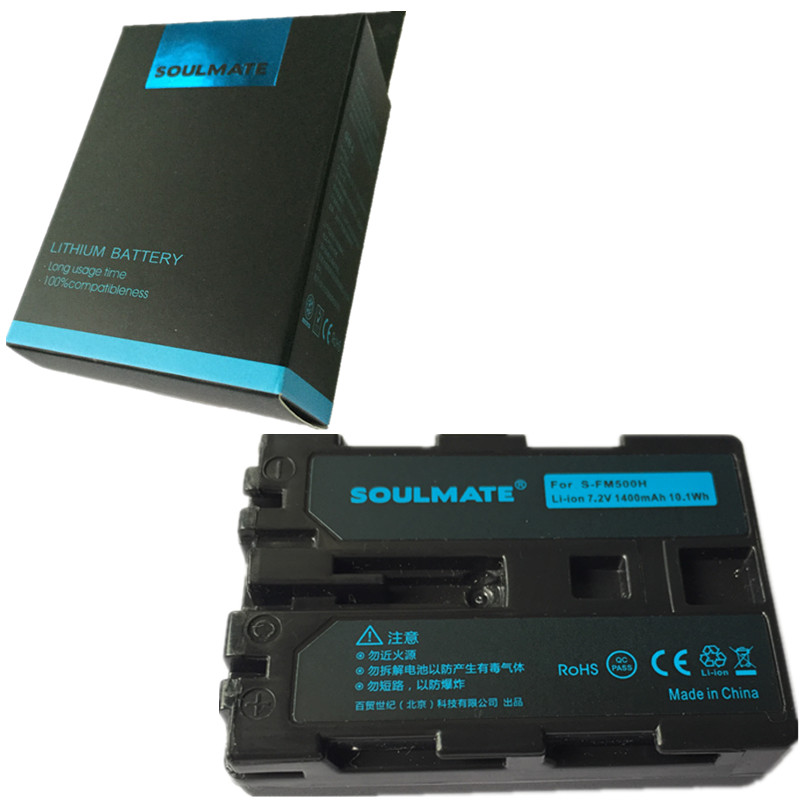 SOULMATE NP FM500H NP lithium batteries pack FM500H Digital Camera Battery FM500H for Sony Alpha SLT A57 A65 A77 A99 A350 A550