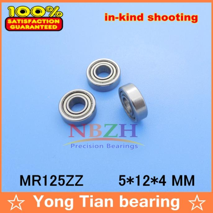 (1pcs) Double Shielded Miniature Deep Groove Ball Bearings MR125ZZ 5*12*4 mm 1pcs 71822 71822cd p4 7822 110x140x16 mochu thin walled miniature angular contact bearings speed spindle bearings cnc abec 7