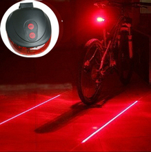 (5LED+2Laser) Retail free shipping factory Cycling Safety Bicycle Rear Lamp Bike Laser Tail Light Bicicleta 7 model Caution