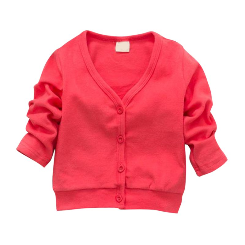 Christmas Sweater Cardigan Spring Autumn Winter Kids Girl Candy Color Coat Single-breasted Sweaters Outwear Baby Girls Outfit