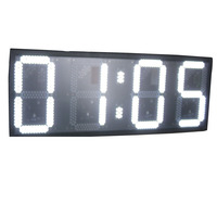 Large size 16inch 6digits LED   clock   12H/24H White color real time HH:MM WALL   CLOCK  (HST4-16W)