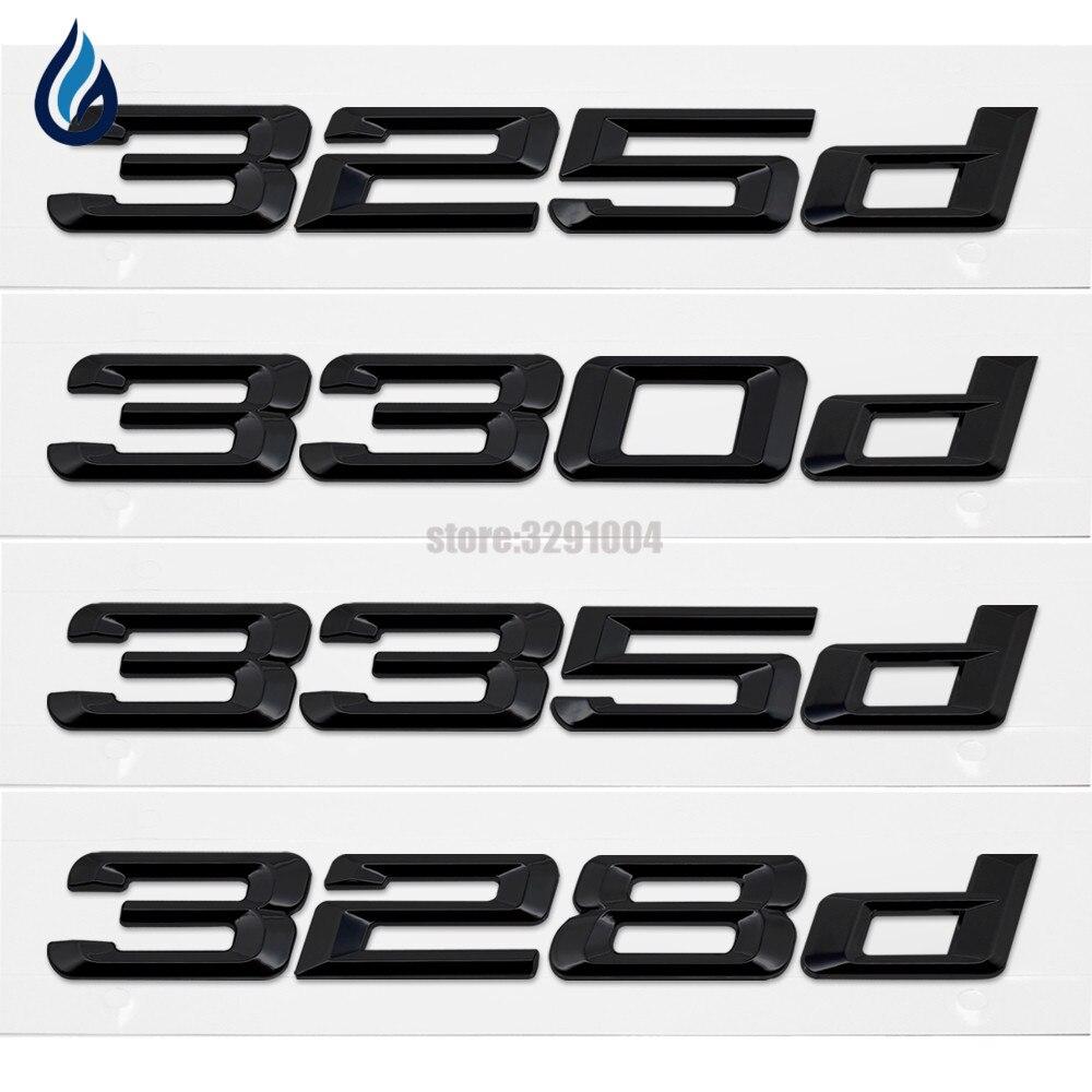 325d 328d 330d 335d Rear Boot Trunk Lid Emblem Logo Badge Lettering For BMW 3 Series E21 E30 E36 E46 E90 E91 E92 E93 F30 F31 F34 soarhorse car rear trunk lid emblem badge chrome letters 320i 325i 328i 330i 335i sticker for bmw 3 series e30 e36 e46 f30 e90