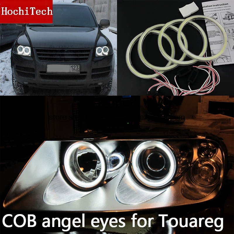High Quality COB Led Light White Halo Cob Led Angel Eyes Ring Error Free for Volkswagen  Touareg 2003 2004 2005 2006