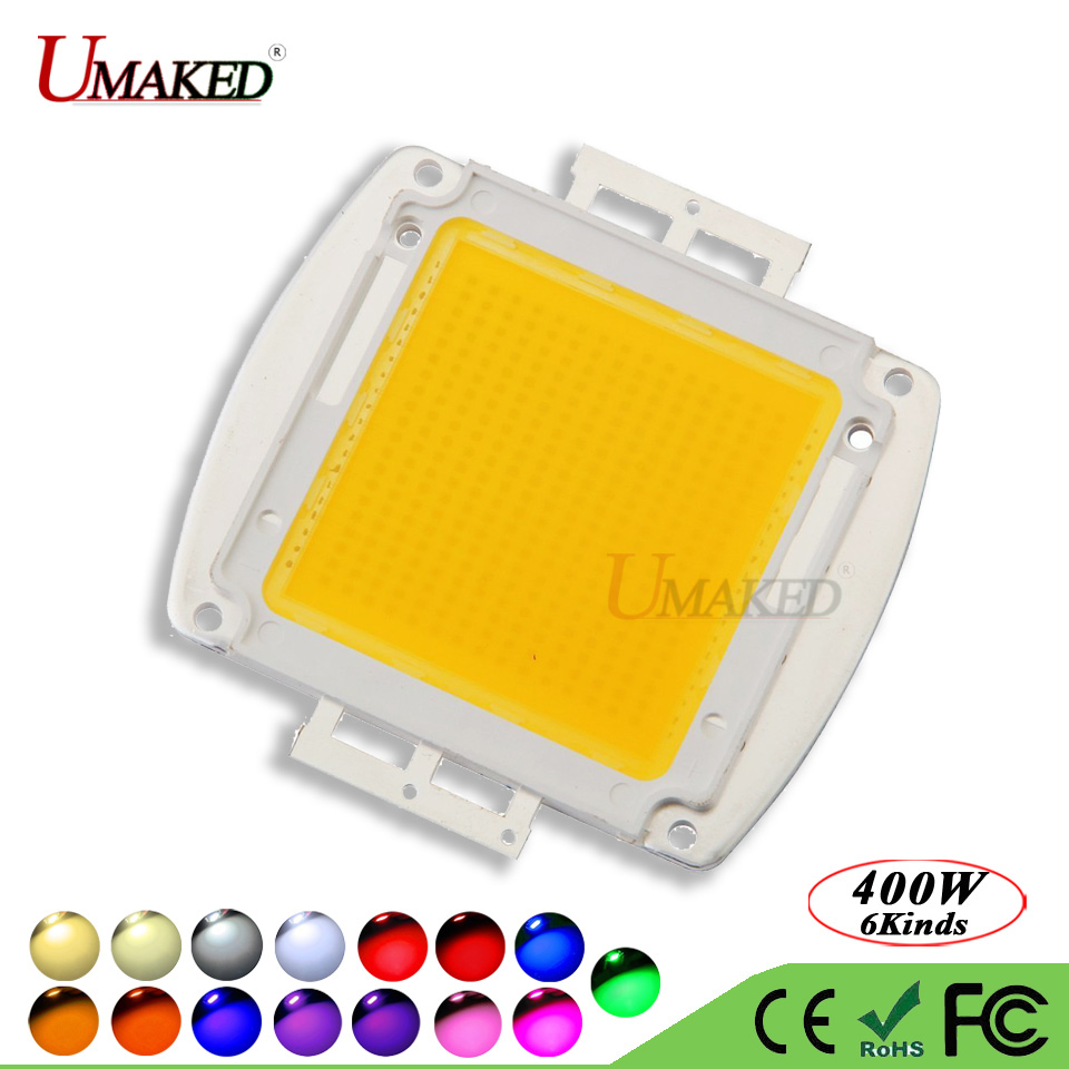 UMAKED High Power 400W LED Chip SMD Epistar 45mil Light chips Warm Natural White Cool Full Spectrum led Bulb Spotlight COB Diode high quality 30w cold warm white cob high power led stripe led light chip emitting diode bulb 3000lumen 800ma 36 39v 2pcs lot