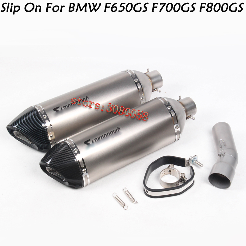 купить For BMW F650GS F700GS F800GS Motorcycle Exhaust Escape Modified Middle Link Pipe Laser Marking Muffler For BMW F650GS F700GS по цене 6528.75 рублей