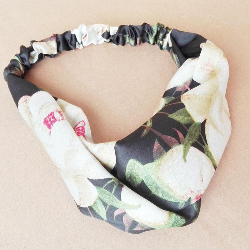 Venda del pelo de las mujeres 2017 nueva moda headwrap hairbands turbante floral impresión elástico headwear accesorios de pelo
