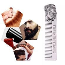 Men's Beard Styling Template Silver Beard Shaping Styling Template Durable unique material Metal Beard Comb for Men Hair Beard