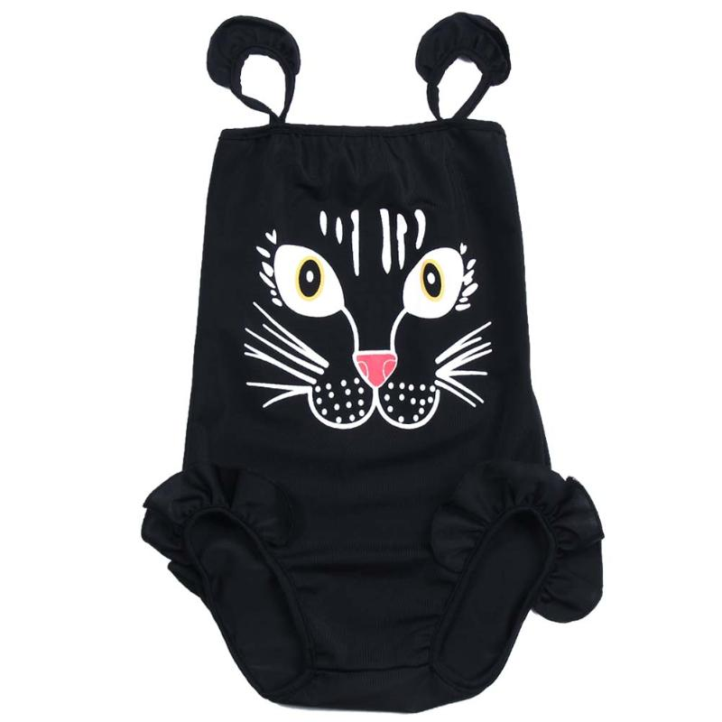 2016 New Baby Girls Kids Fashion Bikini Swimwear Swimsuit Lovely Cartoon Print One-piece Bikini Set Summer cothes 2T-6T
