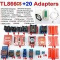 TL866CS programador + 20 adaptadores russo inglês manual de Alta velocidade TL866 AVR PIC Bios 51 MCU Eprom Programmer