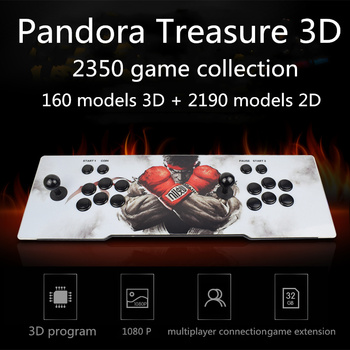 2650 in 1  Pandora Game Box 3D Retro Joystick Gamepad Desk Handle  Home Fighting  For  Video Game Console