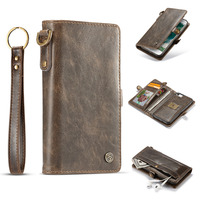EOINII Luxury Durable Leather Wallet Phone Cases PU Card Holder Stand Flip Cover For Iphone 6