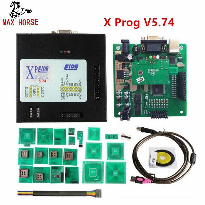 Caldo Più Nuovo Xprog M V5.74 Nuova Generazione Rilasciato X-PROG M Scatola di Metallo Programmatore ECU con USB Dongle X PROG ECU lampeggiatore Strumento
