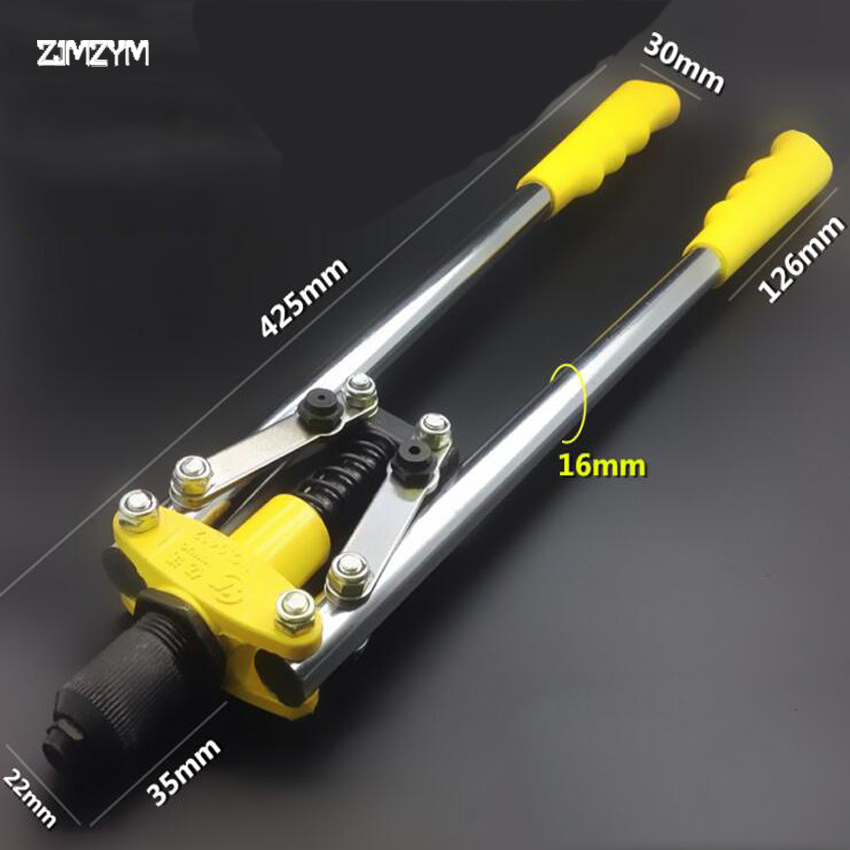 Hot Sale High Quality Blind Rivet Gun Manual Riveter Double Handles Nail Gun Hand Riveter Screw Gun Rivet Gun