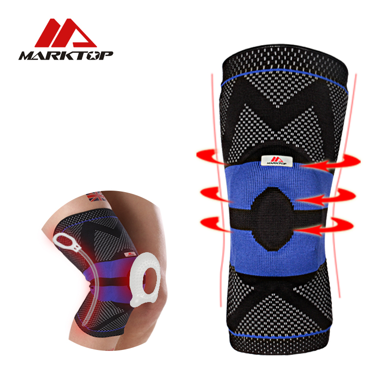 Marktop Sports Knee Pads Breathable Professional 4 Size Tennis Support Elastic Brace Protective Neoprene Sports Safety Gym M5111 knee gasket knee pads professional safety protecto