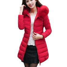 Womens Winter font b Jackets b font And Coats 2016 Thick Warm Hooded Down Cotton Padded