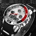 2017 Top Marca de Lujo de Los Hombres De Goma Digital LED Relojes de Los Hombres Reloj Análogo de cuarzo de Hombre de Moda de Natación Deportes Muñeca Del Ejército Militar reloj