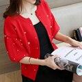 Ropa de alta Calidad 2016 nuevas Mujeres otoño Invierno de Punto Suéter de la Manga Del Batwing Tops Escudo Pullover Loose Outwear JN926