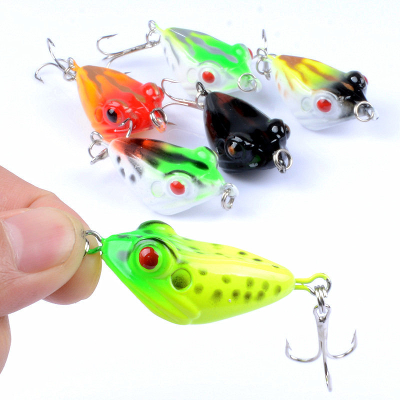 Frog Plastic Bait Fishing Lure Isca Artificial Trolling Wobblers Floating Lures