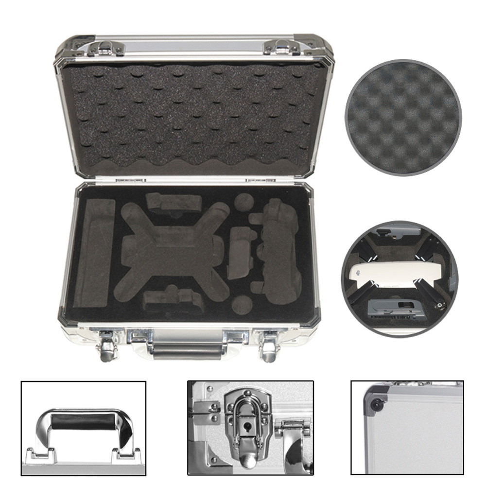 Waterproof Portable Carrying Case Storage Aluminum Explosionproof Box for DJI Spark FPV Drone 20M Drop Shipping free shipping feiyu tech waterproof portable sponge carrying bag case box hangbag for vimble c for fpv gimbal toys spare parts