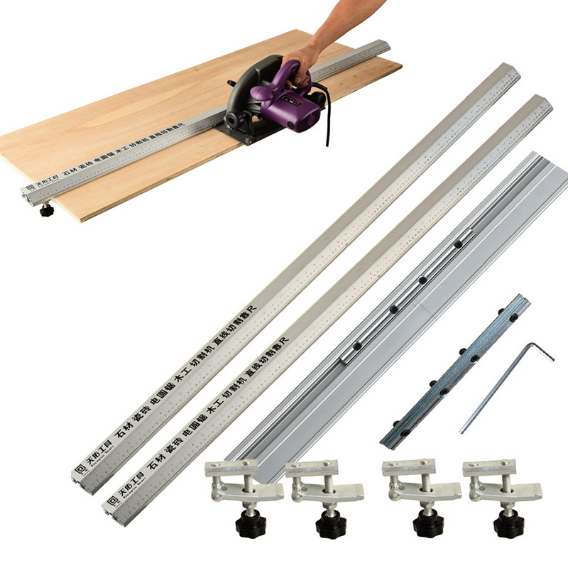 Electric Circular Saw Cutting Machine Guide Foot Ruler Guide Three-in-one 45 Degrees Chamfer Fixture 92/112/135cm Ruler