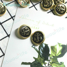 30pcs Lacquered Vintage Anchor Metal Distressed British Wind Coat DIY Crafts Clothing Sewing Accessories Decorative Gold Buttons