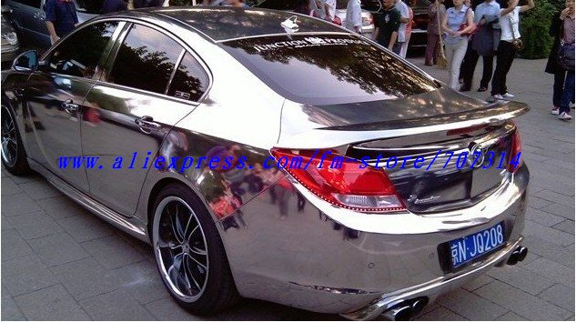 1 52x30m Chrome Mirror Car Body Film Sheet Self Adhesive