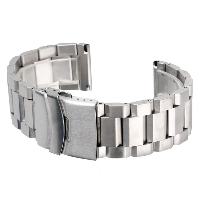 Prix pour Argent Bracelet Solide En Acier Inoxydable Montre Bande Sangle Réglable En Métal de Haute Qualité Bracelet 18mm 20mm 22mm 24mm Des Femmes Des Hommes