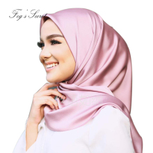 Women Square scarf Pure color soft headband hijab 90 cm x big scarves foulard femme