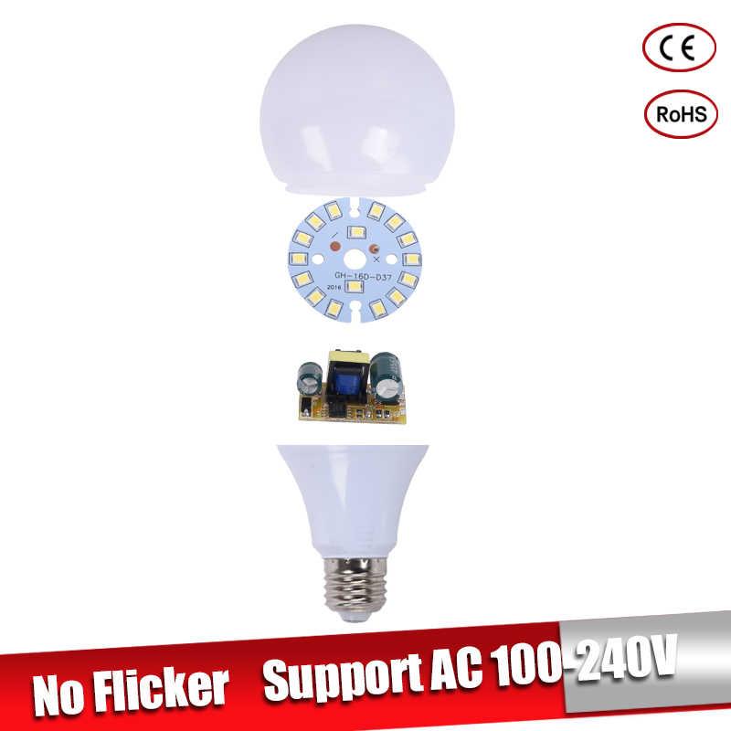 Bombillas светодиодный E27 220 в 110 В 3 Вт 5 Вт 7 Вт E14 lamparas светодиодный 9 Вт 12 Вт 15 Вт Светодиодный светильник для люстры Холодный теплый белый для дома