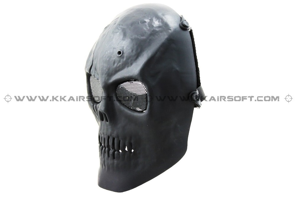Party Mask CACIQUE Skull Face Mask Black [MK-06-BK]