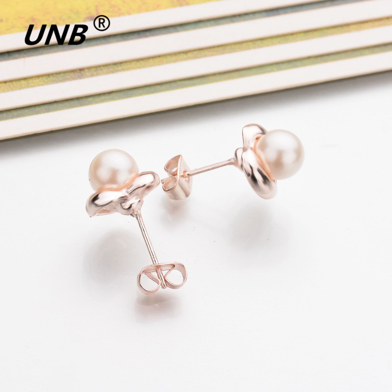 Qiao La 12 Pair Lot Whole Hypoallergenic Gold Color Earrings Stud Fashion Cute Round Simulated Pearl Jewelry In From