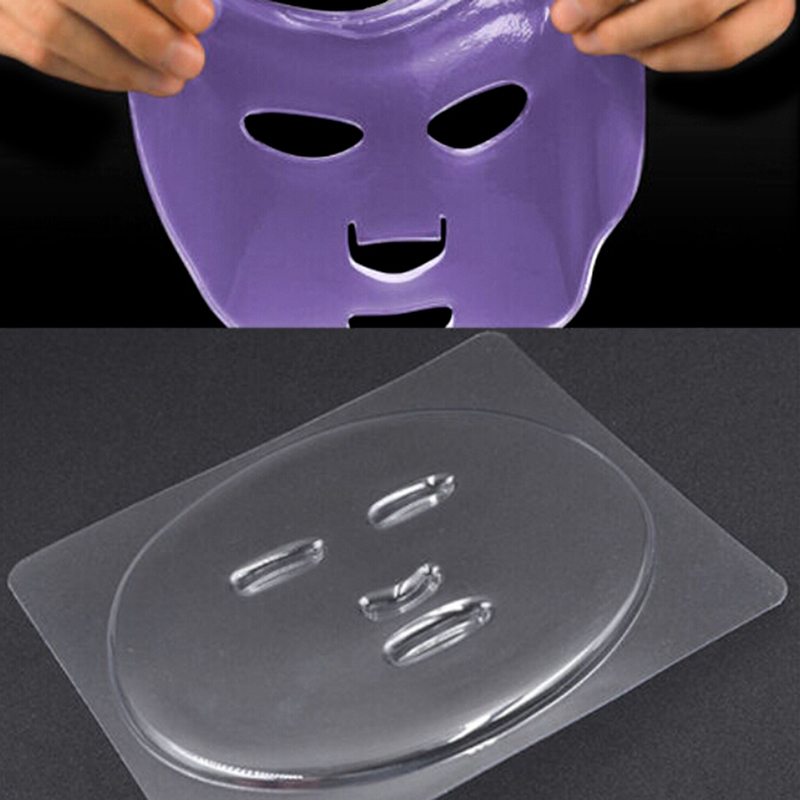1pc Facial Mask DIY Plate Fruit Vegetable Mask Clear PVC Mould Skin Care Mask Making Facial Mask DIY Plate Mold