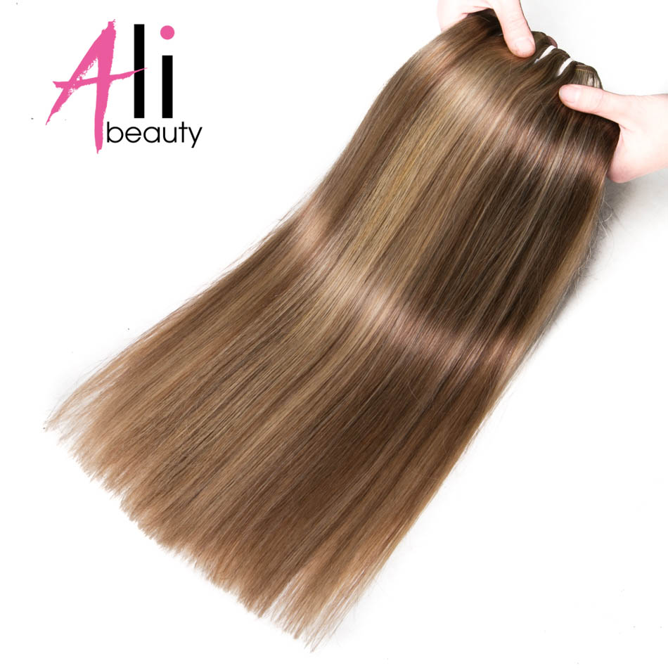 Ali Beauty 6 Colors P6 613 18 24 100Gram Human Hair Weft 100 Remy Human Hair
