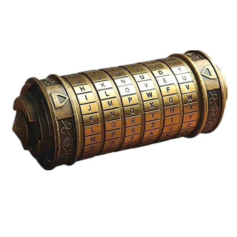 Da Vinci Mini cryptex Casier Jouets Cryptex de Valentine Jour Intéressant Creative Romantique Jouer Jeux D'anniversaire Cadeaux Pour Garçons Filles