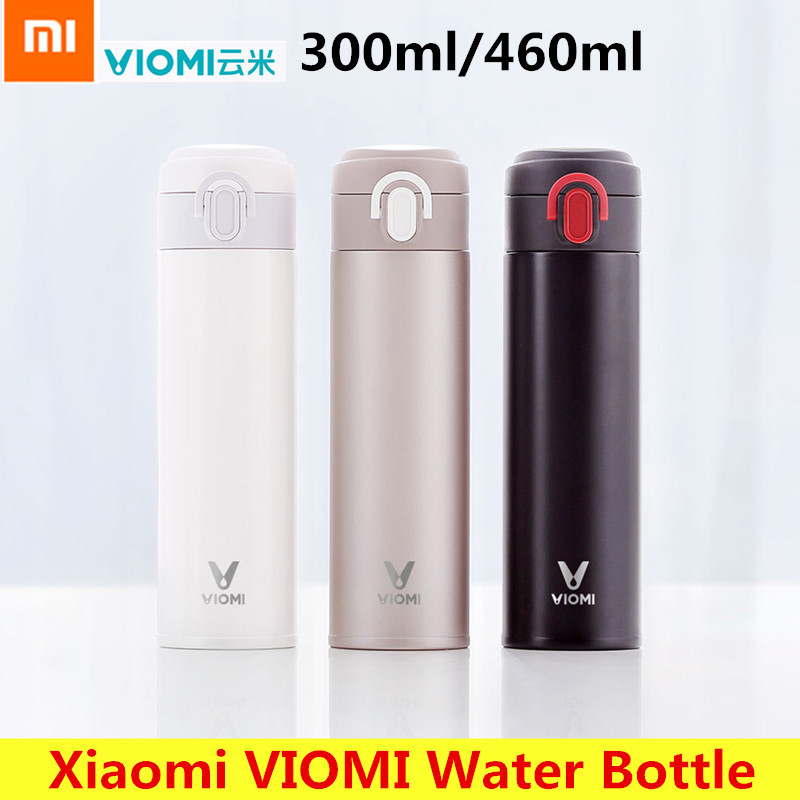 Xiaomi VIOMI Portable 460ml/360ml Stainless Steel Vacuum Insulated Mug Sealed Water Bottle 24 Hours Thermos 2pcs japan kokuyo watanabe notepad spiral vertical notebook a5 60 sheets coil shorthand book wcn ctnb610