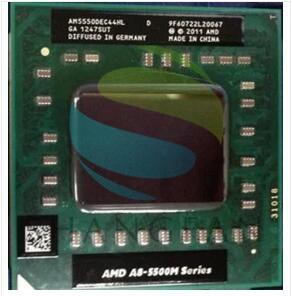 Amd CPU Del Computer Portatile A8 5500 m serie A8-5550M A8 5550 m AM5550DEC44HL Presa FS1 CPU 4 m Cache/2.1 ghz/Quad-Core Notebook processore
