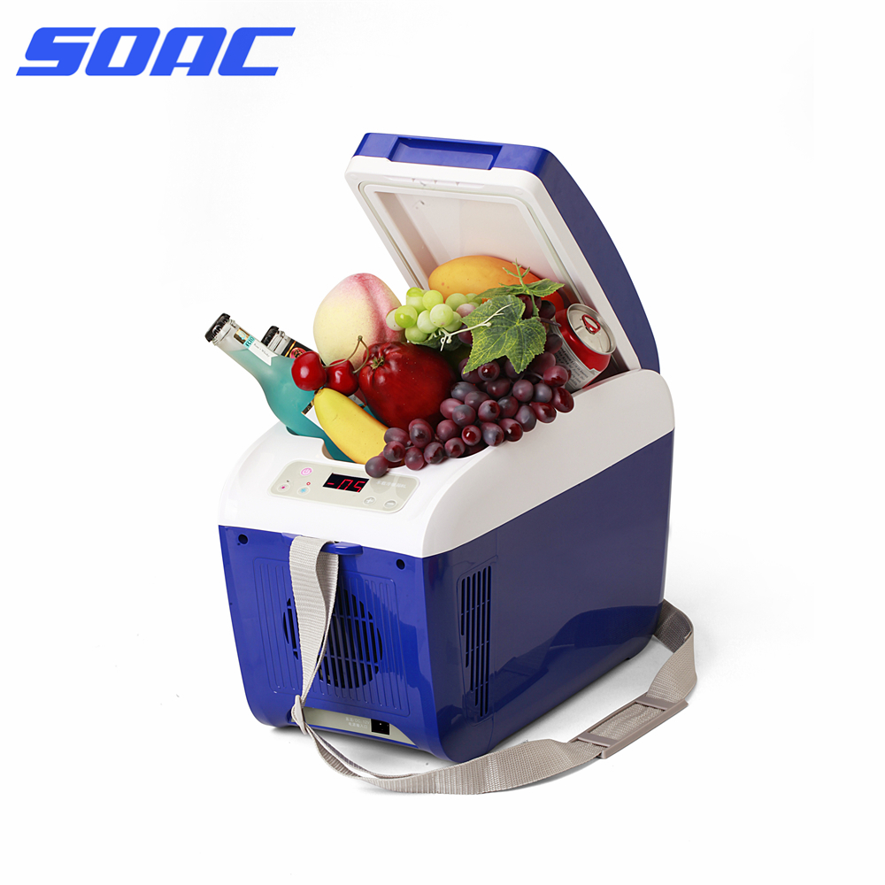 Small Portable Fridge Us 156 Small Portable Freezer Cooler Fridge Plug Play Office Desktop Pc Car Fridge Beverage Can Drink Cooler With Shoulder Strap On
