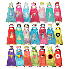 Princess Girls Halloween Costume Capes with masks kids costume dress up pretend Girls Costume Gift DC Super Girls Cosplay(China)
