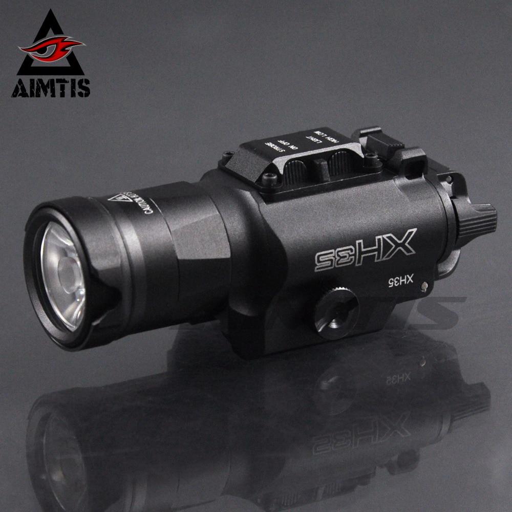 AIMTIS XH35 Weaponlight Ultra High Dual Output White LED Tactical Light Brightness Adjustment Strobe 1000 Lumen