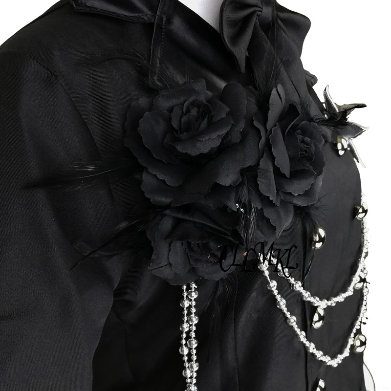Anime Kuroshitsuji Black Butler Ciel Phantomhive Party Dress Cosplay Costume Full Set Customized