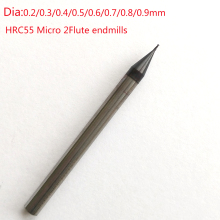 Jerray 0,2/0,3/0,4/0,5/0,6/0,7/0,8/0,9 мм 2 флейты HRC55/HRC60 микро карбида плоская торцевая фреза ЧПУ фрезерный станок с ЧПУ Маршрутизатор биты