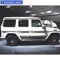 CNORICARC Sport Styling Car Side Skirt Decal Body Modified Customized Vinyl Sticker For Mercedes Benz G class G500 G55 W463