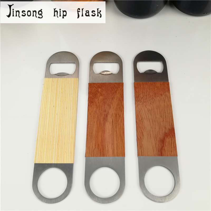 2018 NEW wooden stainless steel brushed Wine opener