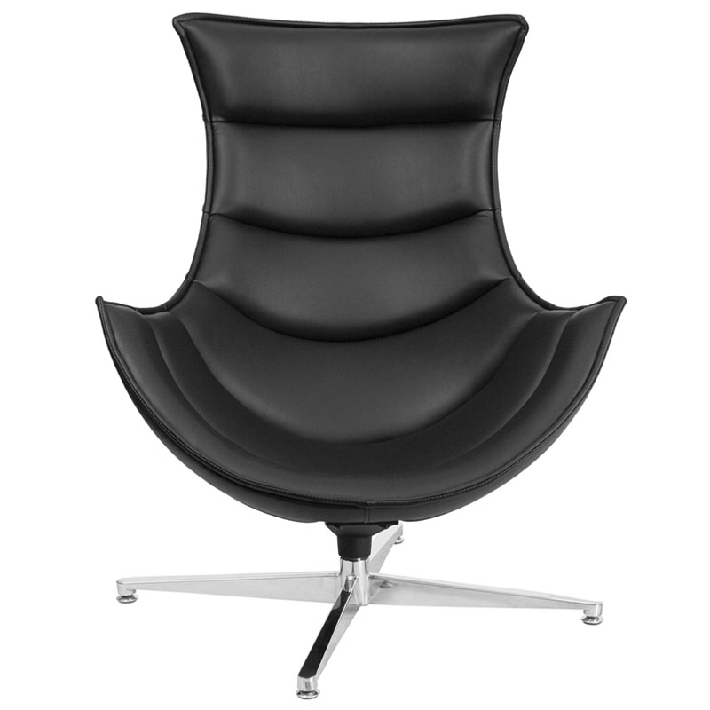 Flash Furniture Leather Swivel Cocoon Chair ...