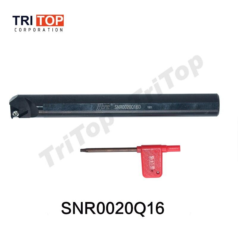 SNR0020Q16 Right hand Thread turning tool holder External threading for carbide inserts 16 ER ISO 60 degree type