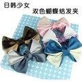 2016 venda limitada adulto headband crianças acessórios grampos elsa coreano qualidade cor sólida fita hair bows clipe clips para as mulheres